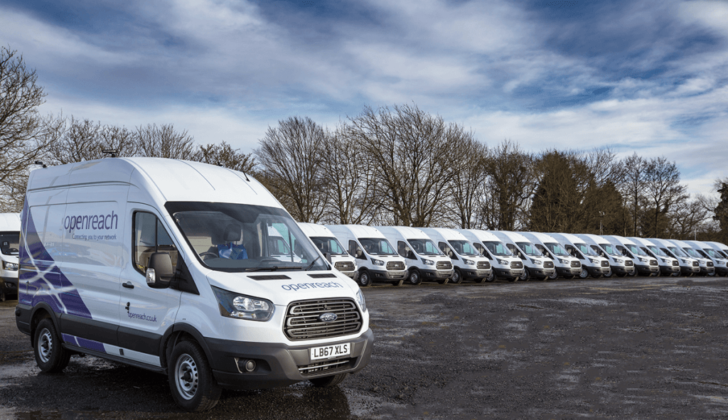 British Telecoms Customised Vans